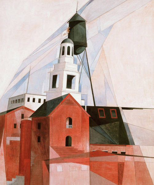 Silo Painting - Lancaster, 1920 by Charles Demuth