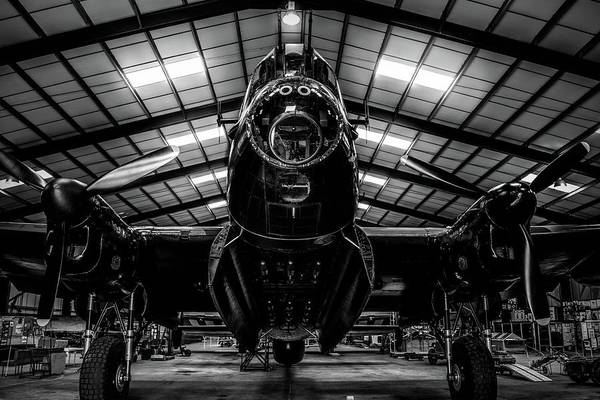 Photograph - Lancaster Bomber Just Jane Bnw by Scott Lyons