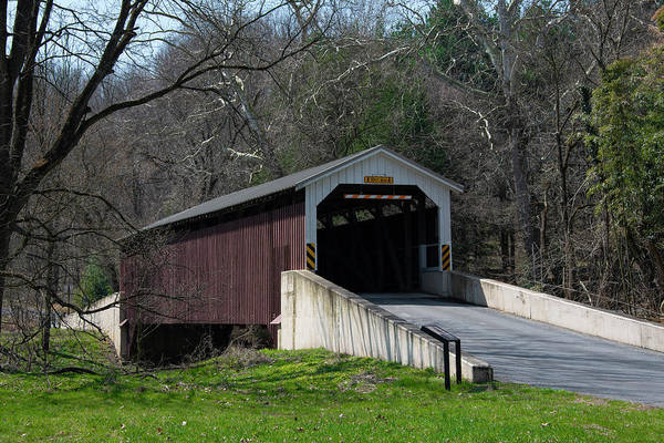 Wall Art - Photograph - Lancaster County - Baumgardners Mill Covered Bridge by Bill Cannon