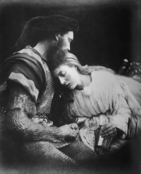 Heterosexual Couple Photograph - Lancelot And Guinevere by Julia Margaret Cameron