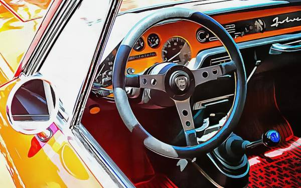 Photograph - Lancia Fulvia Through The Window by Dorothy Berry-Lound
