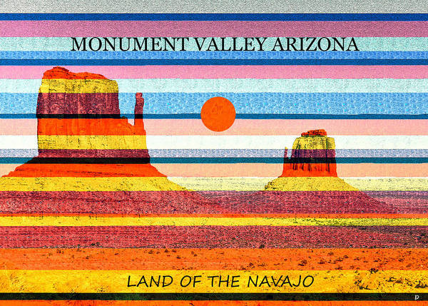 Wall Art - Mixed Media - Land Of The Navajo by David Lee Thompson