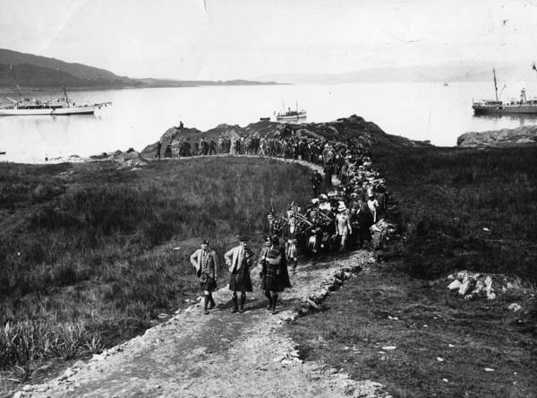 Arrival Photograph - Landing Of The Clan by Hulton Collection