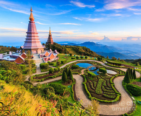 Landmark Building Photograph - Landmark Unseen Thailand  Pagoda In by Apiguide