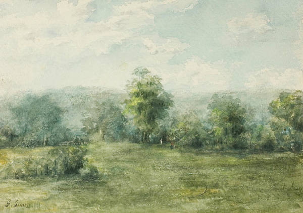 Wall Art - Drawing - Landscape, 1845-1894 by George Inness