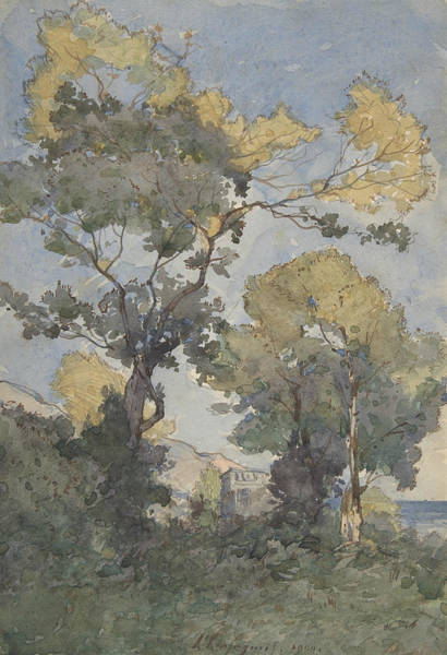 Drawing - Landscape, 1900 by Henri Harpignies
