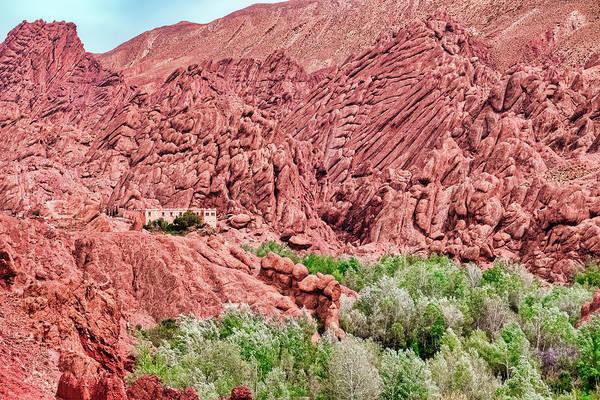 Photograph - Landscape Above The Oasis Gorge - Morocco by Stuart Litoff