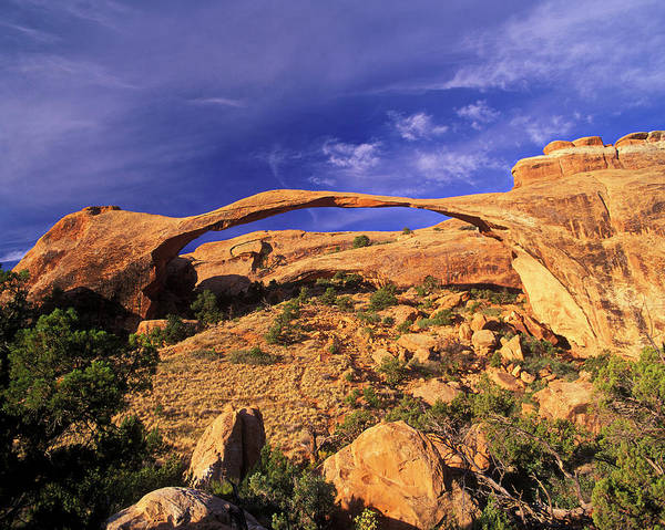 Natural Arch Photograph - Landscape Arch, Arches National Park by Hans-peter Merten