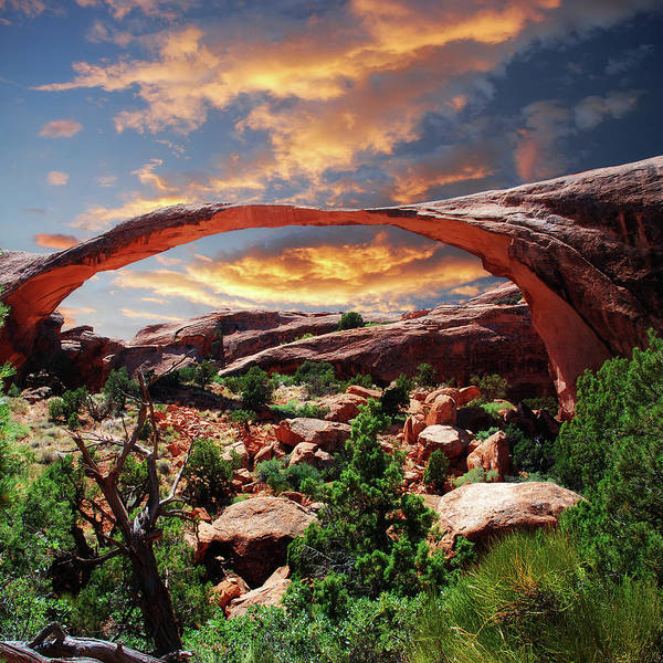 Natural Arch Photograph - Landscape Arch by Moosebitedesign