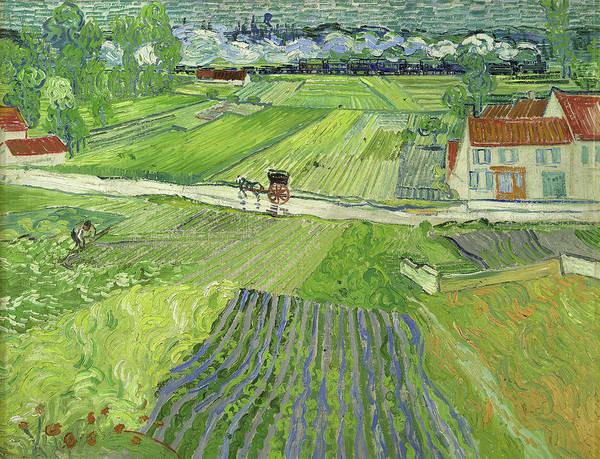 Potato Painting - Landscape At Auvers After Rain by Vincent Van Gogh