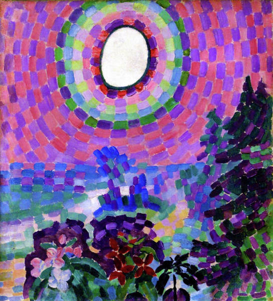 Wall Art - Painting - Landscape At Disc - Digital Remastered Edition by Robert Delaunay