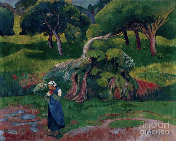 Wall Art - Painting - Landscape At Le Pouldu, 1890 by Paul Serusier