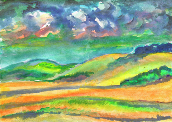 Painting - Landscape Before A Thunderstorm by Irina Dobrotsvet