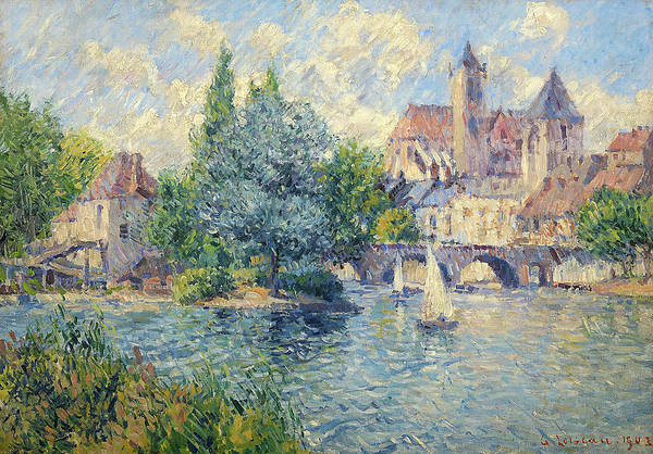 Wall Art - Painting - Landscape By The River by Gustave Loiseau