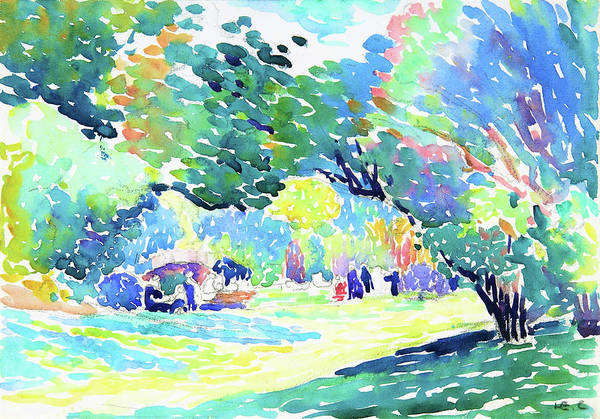 Wall Art - Painting - Landscape - Digital Remastered Edition by Henri Edmond Cross