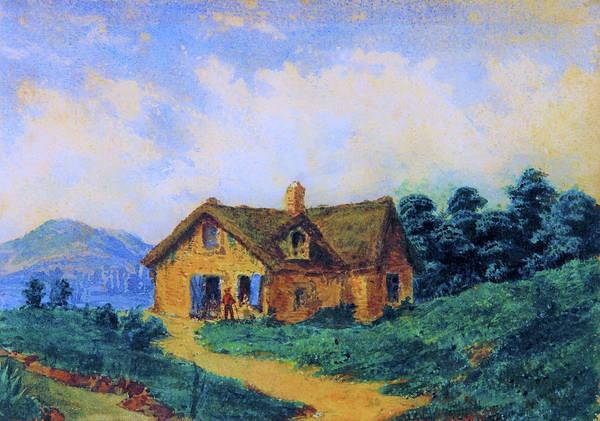 Wall Art - Painting - Landscape, European Farm - Digital Remastered Edition by Prilidiano Pueyrredon