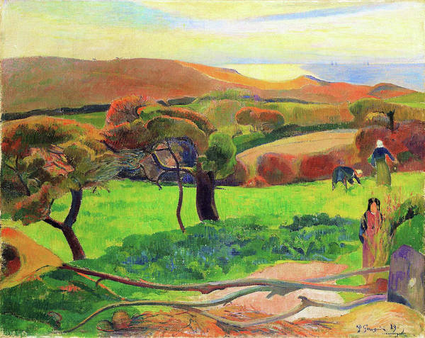 Wall Art - Painting - Landscape From Bretagne - Digital Remastered Edition by Paul Gauguin