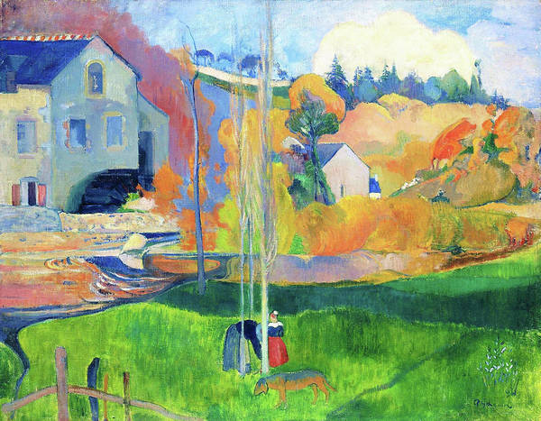 Wall Art - Painting - Landscape In Brittany. The David Mill - Digital Remastered Edition by Paul Gauguin