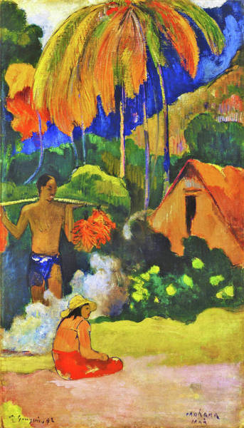 Wall Art - Painting - Landscape In Tahiti II - Digital Remastered Edition by Paul Gauguin