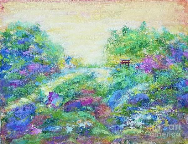 Wall Art - Painting - Landscape In The Botanical Garden by Olga Malamud-Pavlovich