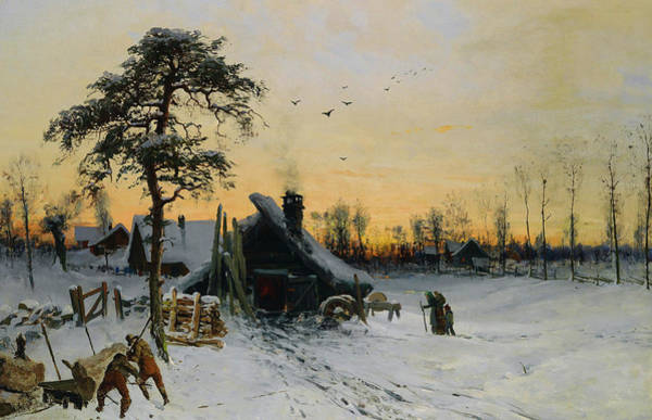 Wall Art - Painting - Landscape In The Evening Light by Ludwig Munthe