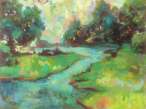 Wall Art - Painting - Landscape In The Park by Jeanette Vertentes