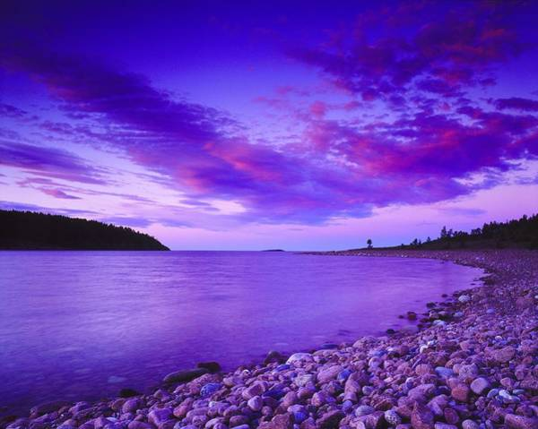 Wall Art - Photograph - Landscape In Violet Tones, Coast Hoga by Pierre Rosberg
