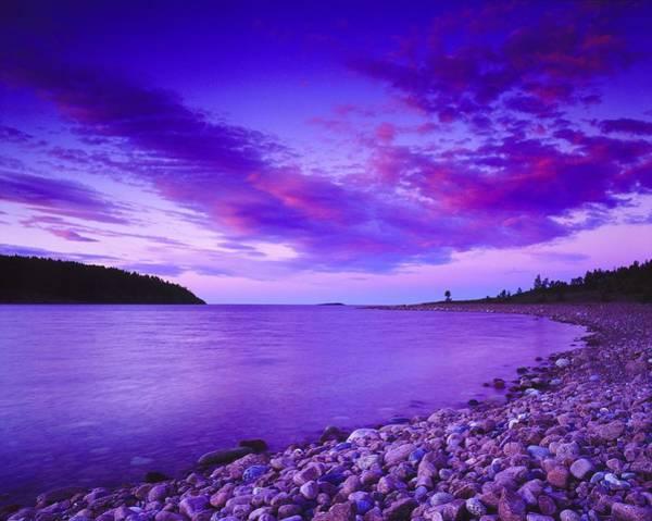 Wall Art - Photograph - Landscape In Violet Tones, Coast Hoga by Pierre Rosberg