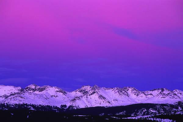 Wall Art - Photograph - Landscape Mountain Winter Sunset by Amygdala imagery