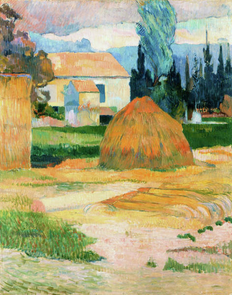 Wall Art - Painting - Landscape Near Arles - Digital Remastered Edition by Paul Gauguin
