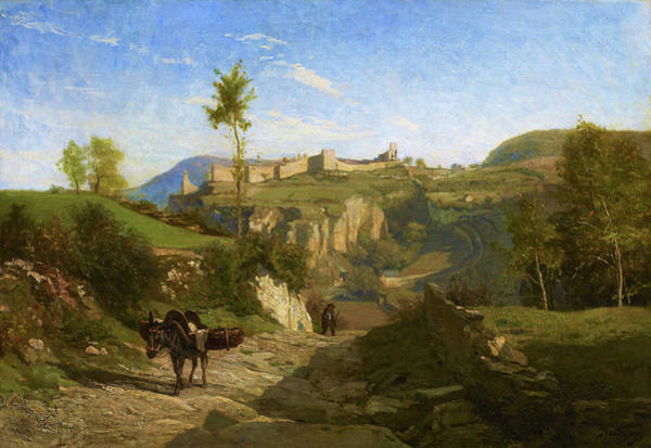 Wall Art - Painting - Landscape Near Cremieu - Digital Remastered Edition by Charles-Francois Daubigny