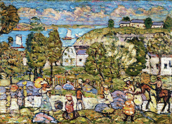 Wall Art - Painting - Landscape Near Nahant - Digital Remastered Edition by Maurice Brazil Prendergast