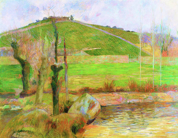 Wall Art - Painting - Landscape Near Pont-aven - Digital Remastered Edition by Paul Gauguin