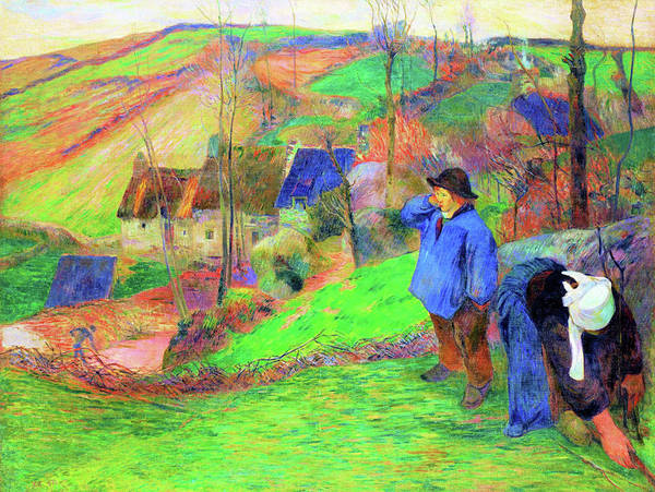 Wall Art - Painting - Landscape Of Brittany - Digital Remastered Edition by Paul Gauguin