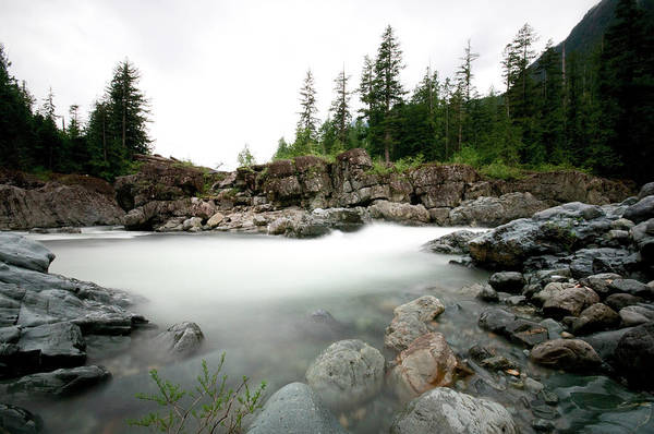 Vancouver Island Photograph - Landscape Of Flowing Water Down A by Jeff Cruz / Design Pics