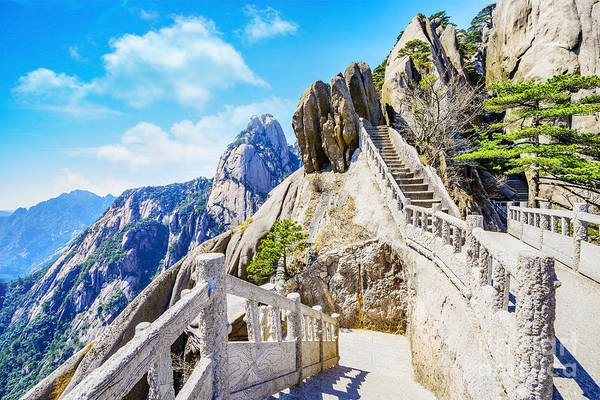 Scene Wall Art - Photograph - Landscape Of Huangshan Yellow by Aphotostory