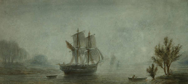 Wall Art - Painting - Landscape Of The Coast With Sailboats by Prilidiano Pueyrredon