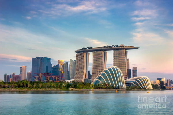 Wall Art - Photograph - Landscape Of The Singapore Financial by Anek.soowannaphoom