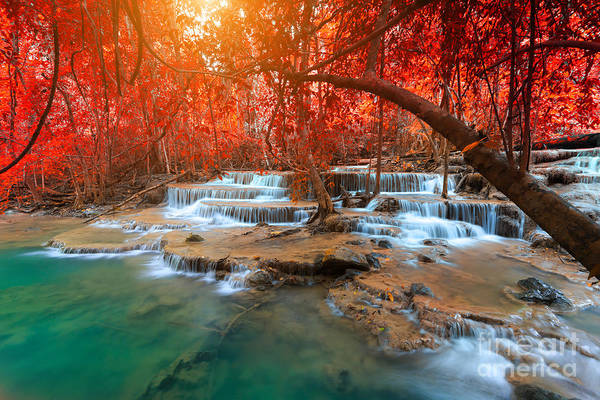 Freshness Wall Art - Photograph - Landscape Photo, Huay Mae Kamin by Suwit Ngaokaew