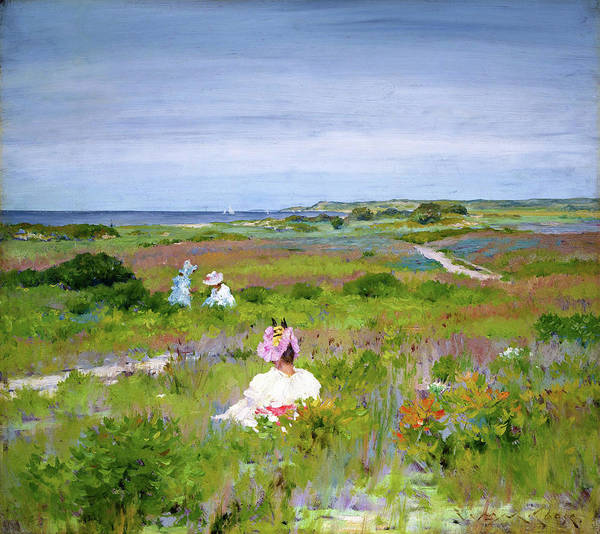 Wall Art - Painting - Landscape, Shinnecock, Long Island - Digital Remastered Edition by William Merritt Chase