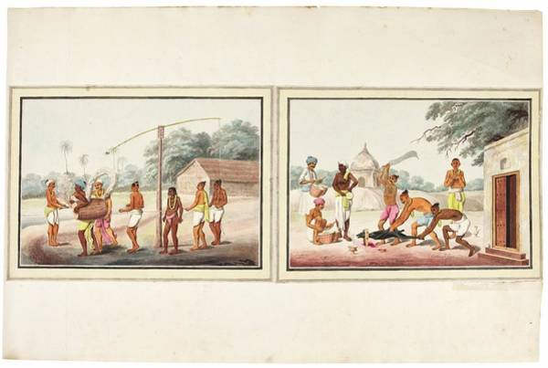Wall Art - Painting - landscape studies, India, Murshidabad, Company School, late 18th early 19th century 2 by Celestial Images