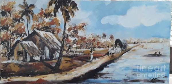 Wall Art - Painting - Landscape by Sudumenike Wijesooriya