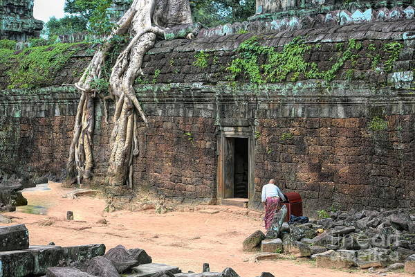 Wall Art - Photograph - Landscape Ta Prohm Massive Tree Roots Ancient Stone  by Chuck Kuhn