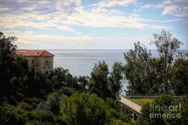 Wall Art - Photograph - Landscape View Pacific Ocean Getty Villa  by Chuck Kuhn