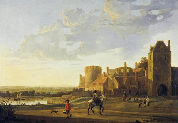 Wall Art - Painting - Landscape With A View Of The Valkhof, Nijmegen, 1660 by Aelbert Cuyp