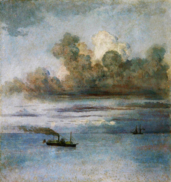 Wall Art - Painting - Landscape With Boats - Digital Remastered Edition by Prilidiano Pueyrredon