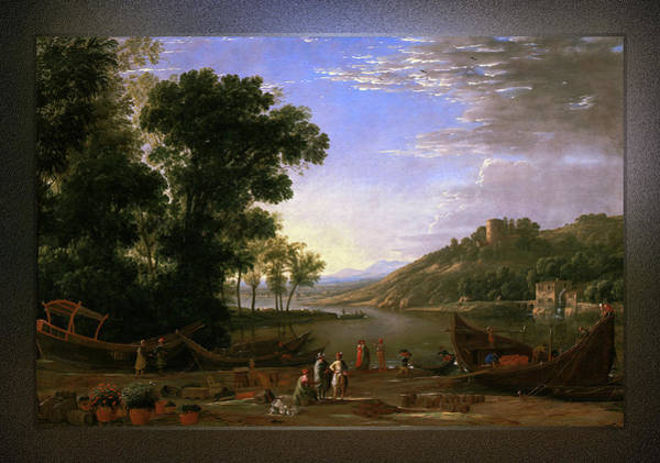 Painting - Landscape With Merchants By Claude Lorrain by Xzendor7