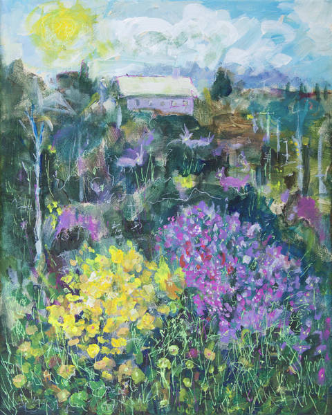 Painting - Landscape With Spring Flowers 16x20 by Maxim Komissarchik