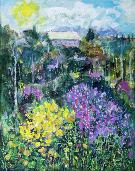 Painting - Landscape With Spring Flowers by Maxim Komissarchik