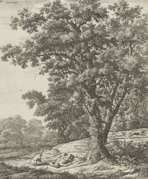 Wall Art - Relief - Landscape With The Death Of Adonis, From The Series Of Six Mythological Scenes by Antonie Waterloo